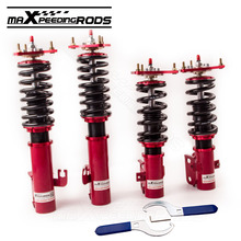 For Subaru Impreza WRX GC8 Adj. Damper Force Coilovers Shock Absorbers Strut Red Suspension Coil Spring 24-Way Damper