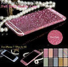 For iPhone 7 Full Body Sticker Case For iPhone 6s 5s Matte Decals For iPhone SE 6s Plus Bling Protector Pretty Girl's Happy Life
