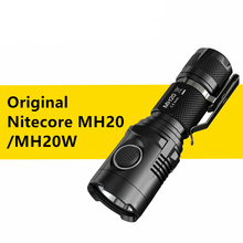 Original Nitecore USB Charging MH20 MH20W Portable Flashlight XM-L2 1000 Lumens Smallest Lightest 1* 18650 Camping Hand Light