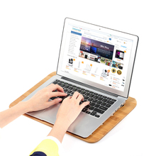 SAMDI Bamboo Laptop Tray Lap Desk Universal Cooling Stand Desktop Reading Board Air Ventilation for Laptop Notebook(China)