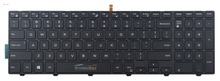 Original New For Dell Inspiron 15 3000 Series 15 3541 3542 DP/N:0G7P48 G7P48 keyboard US layout black color with backlit
