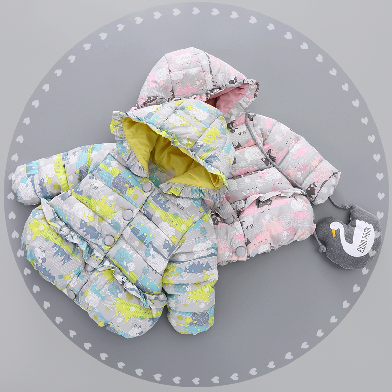 Winter baby plus velvet thickening wadded jacket baby cotton-padded jacket 0-1 - 2 - 3 baby cotton-padded jacket down outerwear Одежда и ак�е��уары<br><br><br>Aliexpress