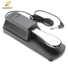 Electric Piano Keyboard Sustain Pedal Damper Chrome Plated Pedal & Plastic Shell Musical Instrument Electronic Organ Sustain Ped(China)