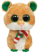 New Beanie Big Eyed Stuffed Animals Candy Cane Christmas Hamster Mouse Kids Plush Toys For Children Gifts 15CM