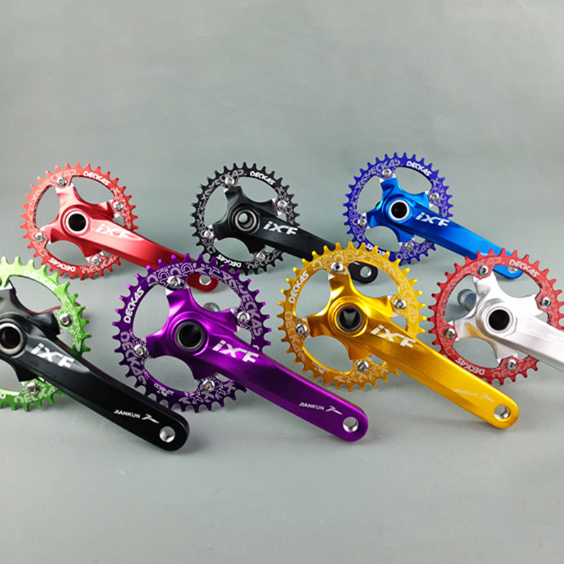 Alloy aluminum 104BCD road mountain bike crank suit sprocket set 68BB folding bike refitting for XT M610 M590 mtb bicycle part<br>