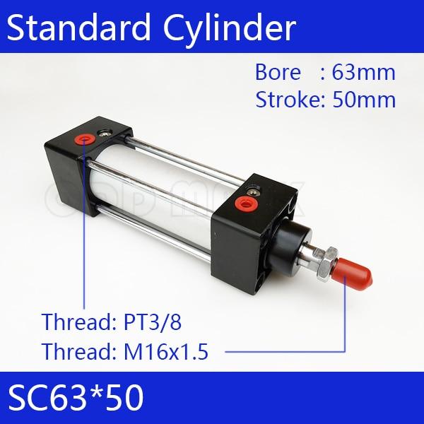 SC63*50   63mm Bore 50mm Stroke SC63X50 SC Series Single Rod Standard Pneumatic Air Cylinder SC63-50<br>