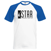 Hot Sale The Flash STAR S.T.A.R. labs men t shirt 2016 new summer 100% cotton hipster raglan tee hip hop style streetwear S-2XL