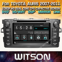 WITSON CAR DVD GPS For TOYOTA AURIS car audio navi with Capctive Screen 1080P DSP WiFi 3G DVR Good Price GIFT+Free shipping