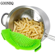 GOONBQ 1 pc Kitchen Colander Silicone Wash Rice Colander Snap Filter Plate Fruits Vegetables And Noodles Washing Draining Board