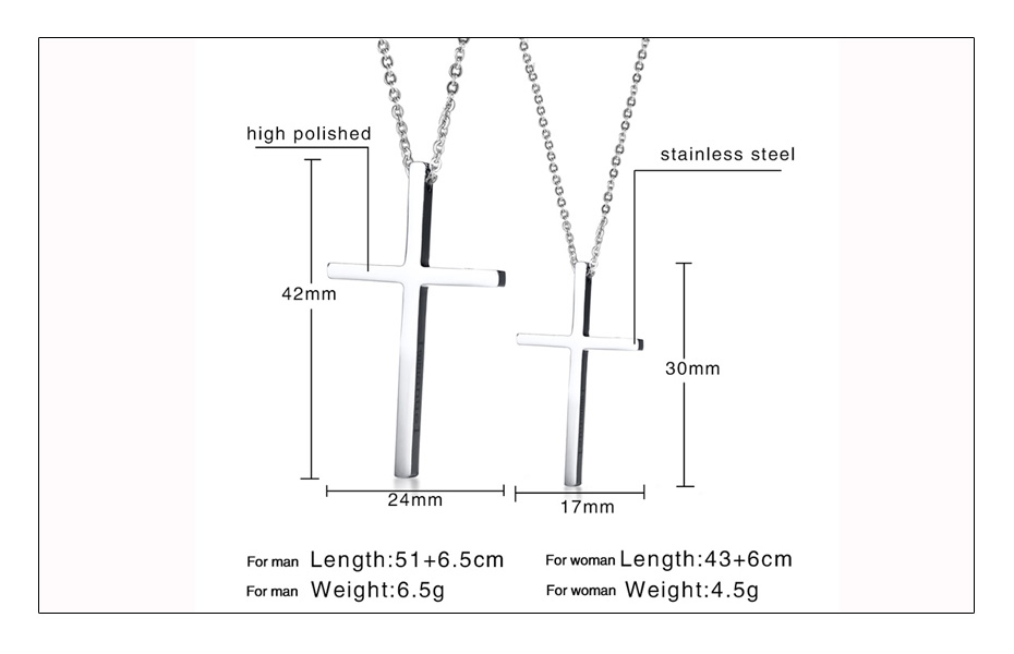Meaeguet Immanuel Lover Cross Pendant Jesus Necklaces For Women Men Couple Silver Color Stainless Steel Religious Jewelry  (6)