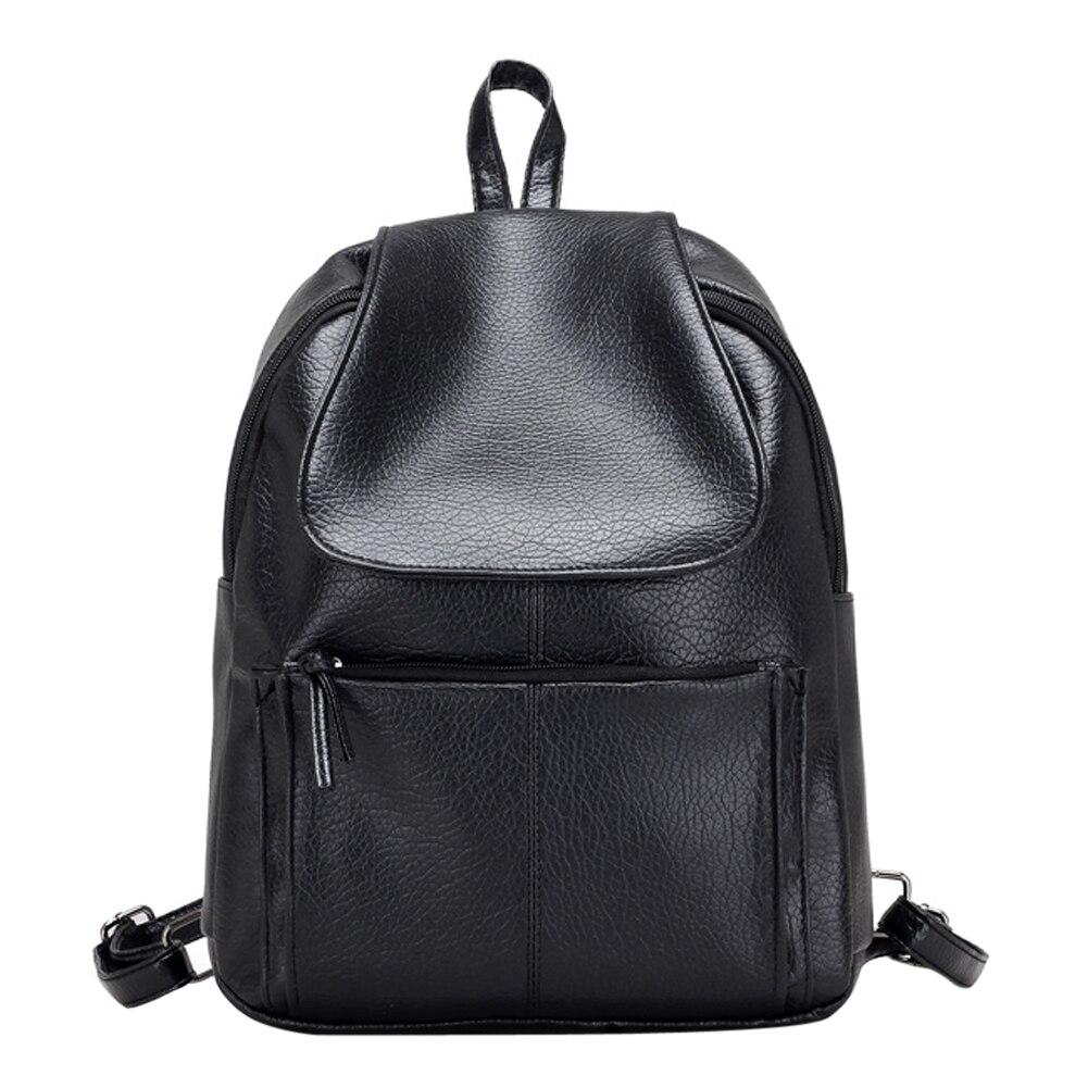 Fashion Waterproof PU Leather Backpack Girls Leisure Women Backpack School Bag for Teenage Rucksacks  Bolsa Feminina Mochilas<br>