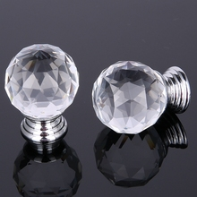 30MM Crystal Diamond Cabinet Kitchen handles for interior doors hyundai accent furniture Glass door Drawer handle cabinet knobs