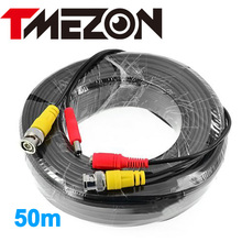 Tmezon BNC Video Power Coaxial Cable 50m 165FT Work for Analog AHD TVI CVI Security Surveillance Camera CCTV Accessories(China)