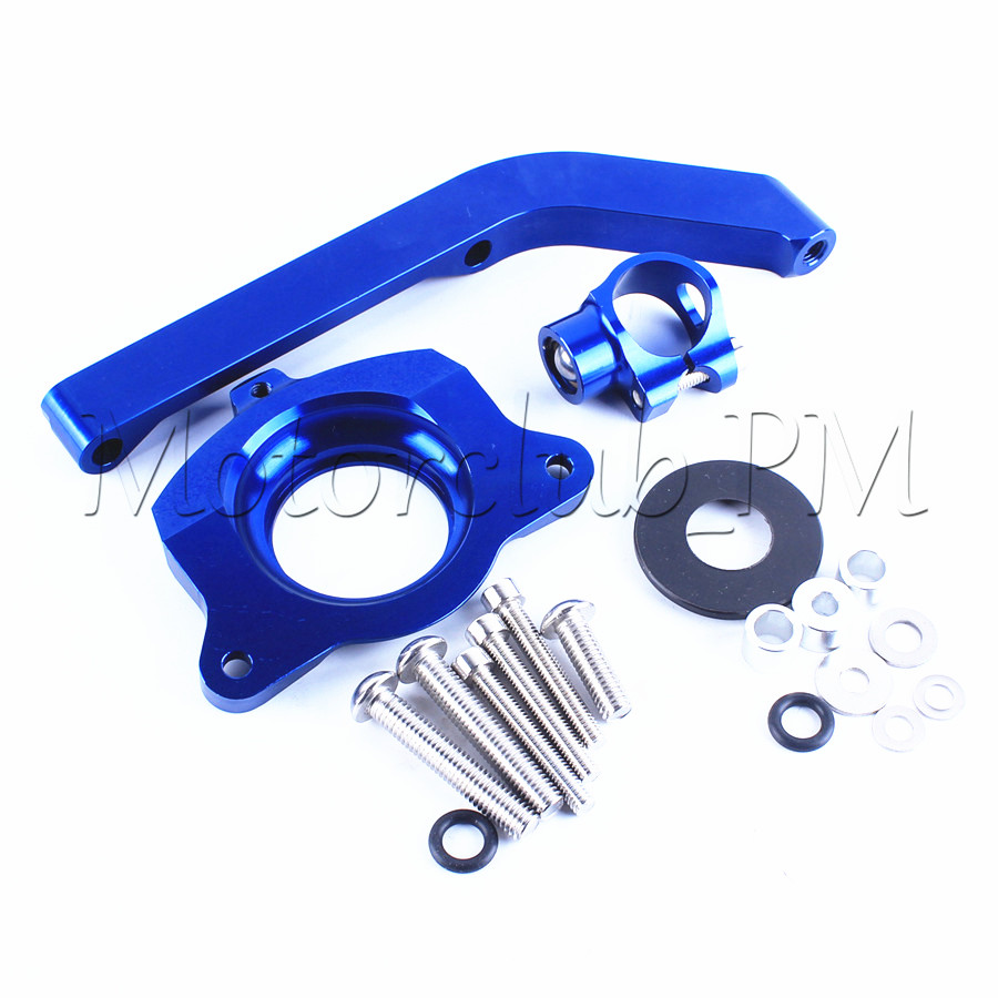 Steering Stabilize Damper Bracket Mount Kit For Kawasaki Z1000 2014-2016 2015 Motorcycle Accessories Blue New<br>