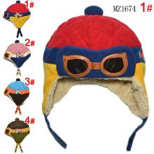 Hot Sale Toddlers Warm pilot hat Cool Baby Boy Girl  Beanie Infant Winter Pilot Cap Free Shipping