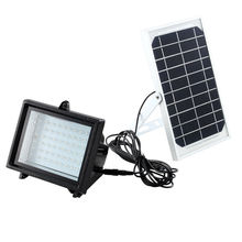 60LED Outdoor Solar Flood Light Solar Green/Warm White/White Color Light Garden 6V 5W 3.7V 4000MAH Battery