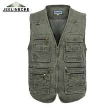 PLUS SIZE XL-5XL tactical Vest Men 2016 New Arrival Multi-pockets Photography Cameraman Reporter Director Fishing Hunting Vest