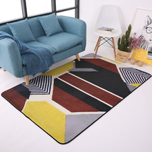Modern Geometry Rugs And Carpets For Home Living Room Soft Velvet Bedroom Area Rug Kids Play Floor Mat Coffee Table Carpet Decor