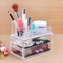 Makeup Setting Spray Acrylic Cosmetic Box Clear Cosmetic Jars Transparent Makeup Container Jewelry Storage Drawer Display Toll