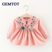 GEMTOT New XMAS Baby Girls Party Lace Tulle Flower Gown Fancy Dridesmaid Dress Sundress Girls Dress
