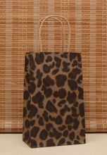 Free shipping . Wholesale leopard Kraft paper bag,Festival gift bag ,size 21*13*8cm 100piece\lot(China)