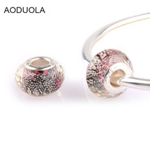 Buy AODUOLA 10pcs 925 Big hole Bead White Murano glass Beads Fit Pandora Bracelet Charms Women Jewelry bracelet Making SZ28 for $1.45 in AliExpress store