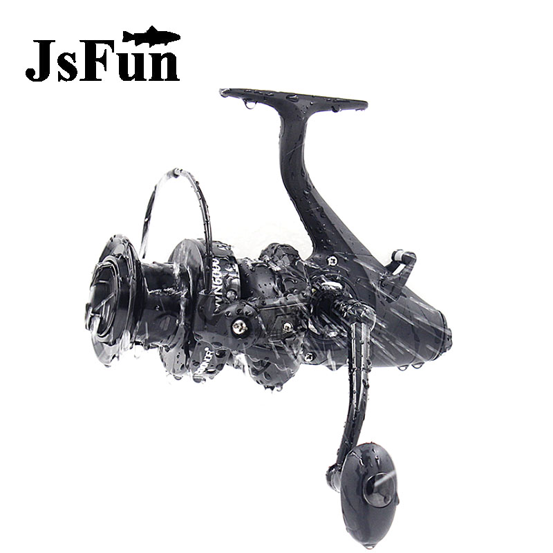 JSFUN spinning Fishing Reel 11+1 Ball Bearings  Carp Fishing Wheel 5.5:1 Long Shot Round  WN5000 WN6000  Metal Material fr9<br>