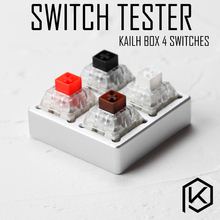aluminum Switch Tester 2X2 silver for kailh box switches black red brown white RGB SMD Switches Dustproof Switch(China)