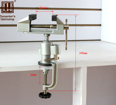 Carpenters Workshop, Vice Conversion Electric Mill Electric Drill Aluminum Clamp Power Drill Bench Vice Universal Clamp Vise<br>