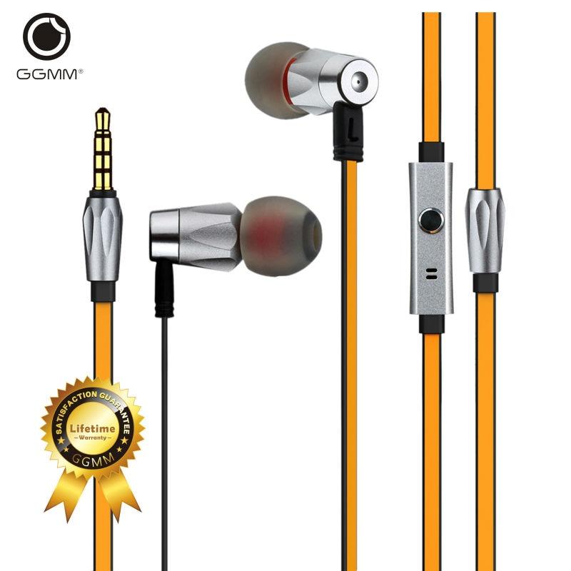 GGMM Alauda Earphones with Microphone In-Ear Metal Earphones Music Headets Wired Earphone Hands Free Sports Earphone for Phone  <br>