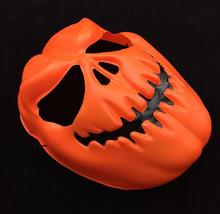 Latest New Design Cosplay eco-friendly latex Plastic PVC Halloween Orange Pumpkins mask