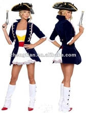Free Shipping S-2XL Adult Pirate Lady Fancy Dress Costume Carribean Ladies Womens Female
