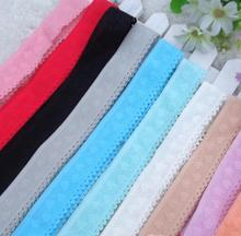6 Meters Elastic Lace Trim Pink Blue Red Lace Ribbon DIY Garment Fabrics Craft Materials
