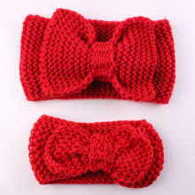 new baby girl newborn women elastics for hair winter knit bow headband head bands hairband hair accessories headbands ornaments(China)