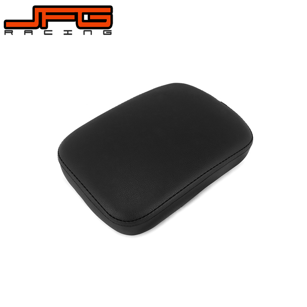 Motorcycle 8 Suction Leather Gripper Soft Rear Passenger Seat Pad For Harley Cruiser Chopper Custom XL883 XL1200 X48 X72 Brown