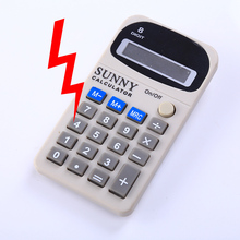 Antistress New Shocking Toys Electric Shocker Calculator Novelty Gag Gift Office Anti Stress Joke Funny Gadgets(China)