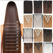Hairpiece 23inch 170g Straight 18 Clips in False Hair Styling Synthetic Clip In Hair Extensions 8pcs/set Heat Resistant Hair