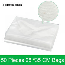 50 pieces/lot 28*35CM Bags for Vacuum Packing Machine Dots Grain Bags with Grooves 28x35 CM Vacuum Sealer Packer Bag for Food
