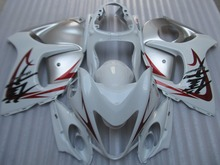 Fairing kit for SUZUKI Hayabusa GSXR1300 08 09 10 11 12 13 14 GSXR 1300 2008 2009 2014 Silver white Fairings set+7 gifts GH30
