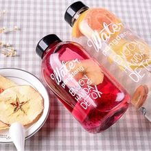 Portable Fashion 600ml/1000ml Clear Sports Travel Fruit Juice Water Bottle