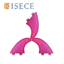 Pink surfboard fins FCS fiberglass surf fins with honeycomb core FCS surfboard fin for surfing