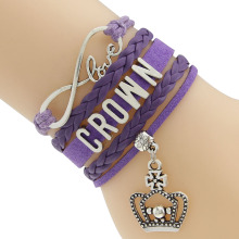 Crown  Bracelet Waxed Cord And Braided Cord Bracelets More  Colors For You To Pick Drop Shipping PayPal Payment