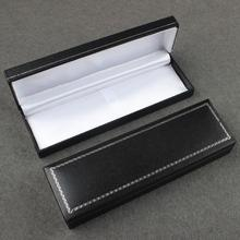 20pcs/lot Top selling gift box creative school office stationery gift pen box black business pen box with sponge pads 16*5*2.5cm(China)