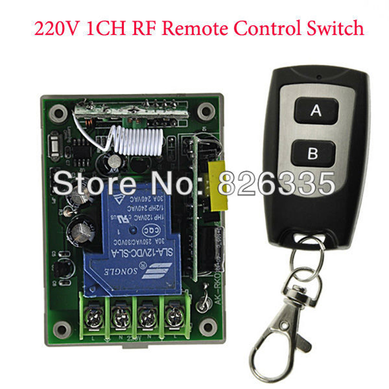 220V 1CH  RF Wireless Remote Control Switch Receiver with Waterproof Two Buttons Transmitter<br><br>Aliexpress