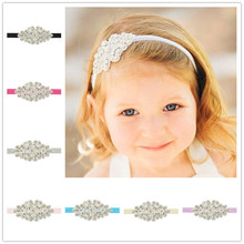 Kids Rhinestone Headband Little Princess Elastic Hairband Photo shooting Prop Birthday Girls Headbands 1pc HB119