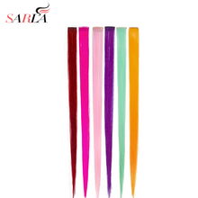 SARLA 1 PC Straight Synthetic Fibre Clip In Hair Extensions 20 inch 50cm Heat Resistant 14 Colors Available Hairpiece