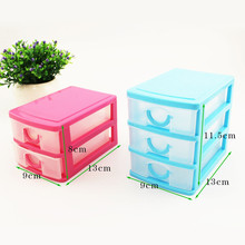 Plastic Parts Drawers Storage Box Layer maquiagem Storage Desktop box makeup organizer organizador maquiagens plastic box porta