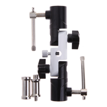 "Adjustbale Flash Light Stand Holder photo studio Flash Swivel Umbrella Holder 1/4""-3/8"" U Type Bracket Photo Studio Accessories(China)"