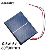 Zerosky Portable Mini 6V 0.6W Solar Panel Power Poly Module DIY Small Cell Charger Solar 60*90MM For Toy Emergency Charging(China)
