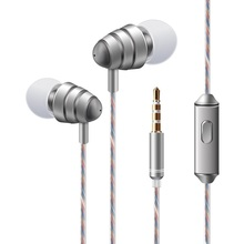 New Original Brand 3.5mm In ear Earphone Headset, stereo Headset good bass earbuds 3 colors with mic For smart phone MP3 MP4